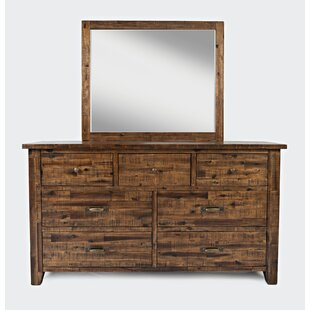 Reddin 6 Drawer Double Dresser with Mirror by Loon Peak