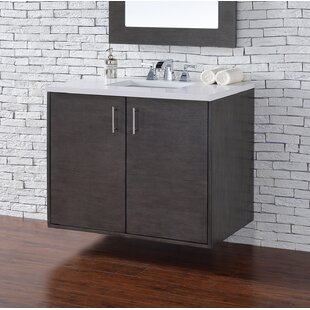 Bargain Elbridge 36 Single American Walnut Bathroom Vanity Set By Mercury Row