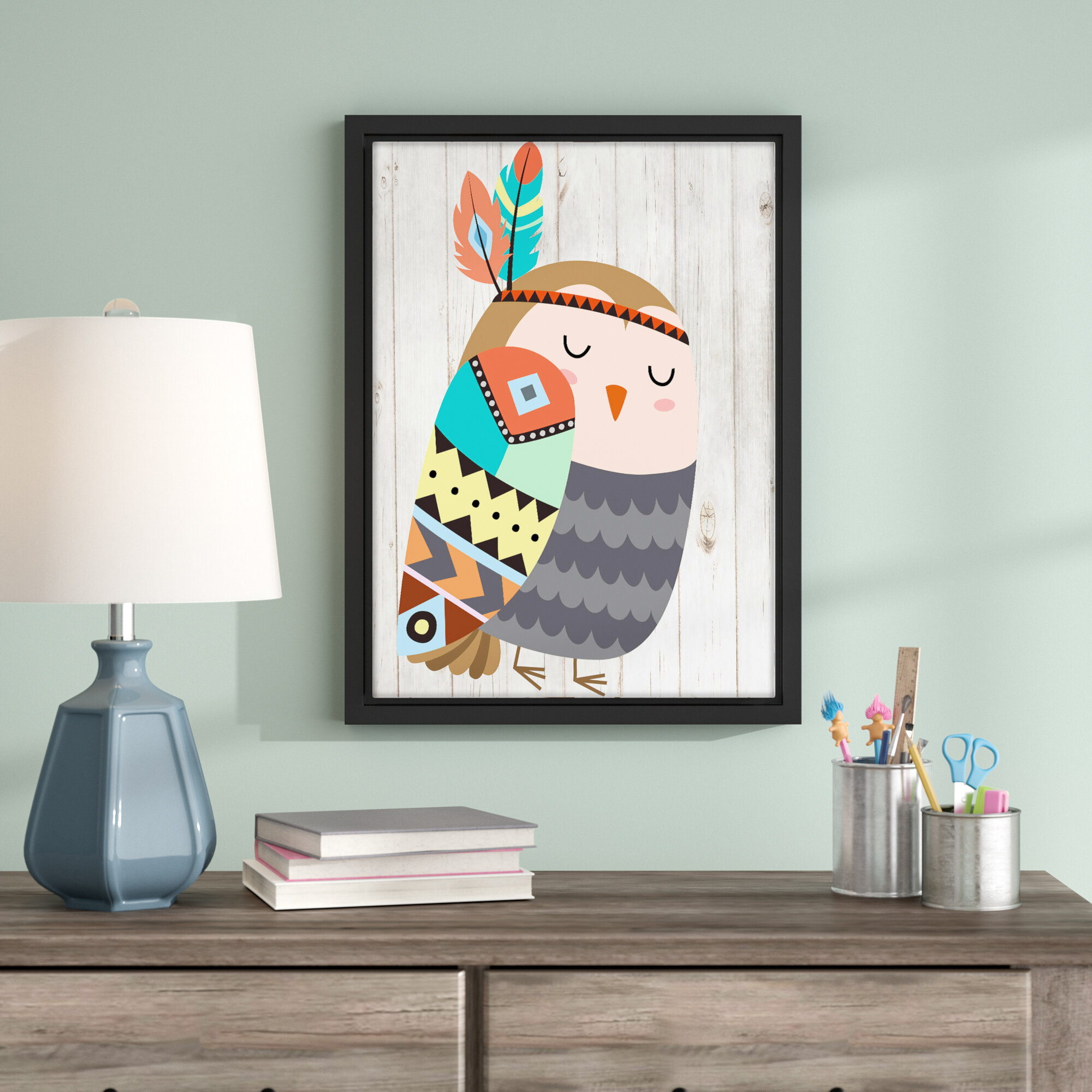 Viv Rae Aida Tribal Owl Ii Framed Art Wayfair