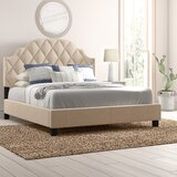 Thom Diamond Tufted Upholstered Standard Bed by Mistana™