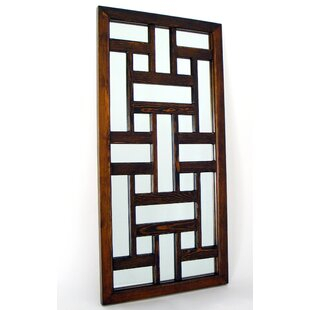 World Menagerie Rectangle Wood Mirror