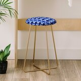 Wagner Campelo Shibori Tribal Indigo Co Farm Life 25 Bar Stool by East Urban Home