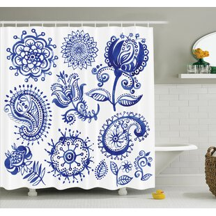 Sketch Hot Air Balloon Travel Shower Curtain Set
