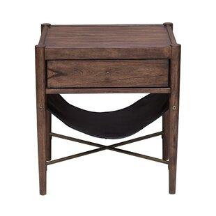 Union Rustic Mervela Modern Retro Style End Table