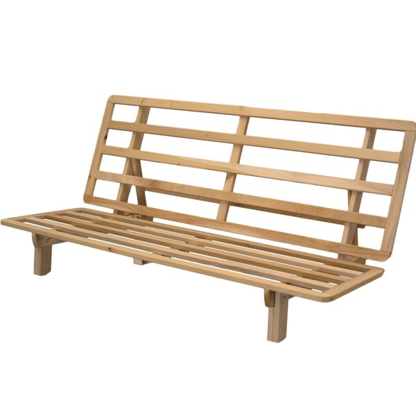 andover mills tewkesbury bifold futon frame reviews wayfair - Wood Futon Frames