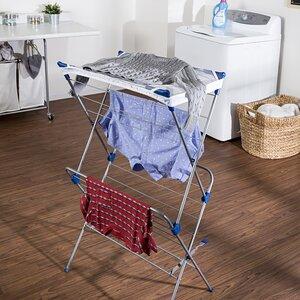 Two Tier Mesh Top Freestanding Drying Rack