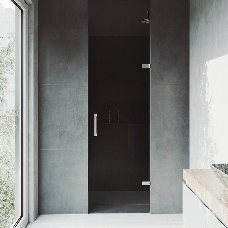 Vigo Soho 2627 X 7063 Hinged Adjustable Frameless Shower Door