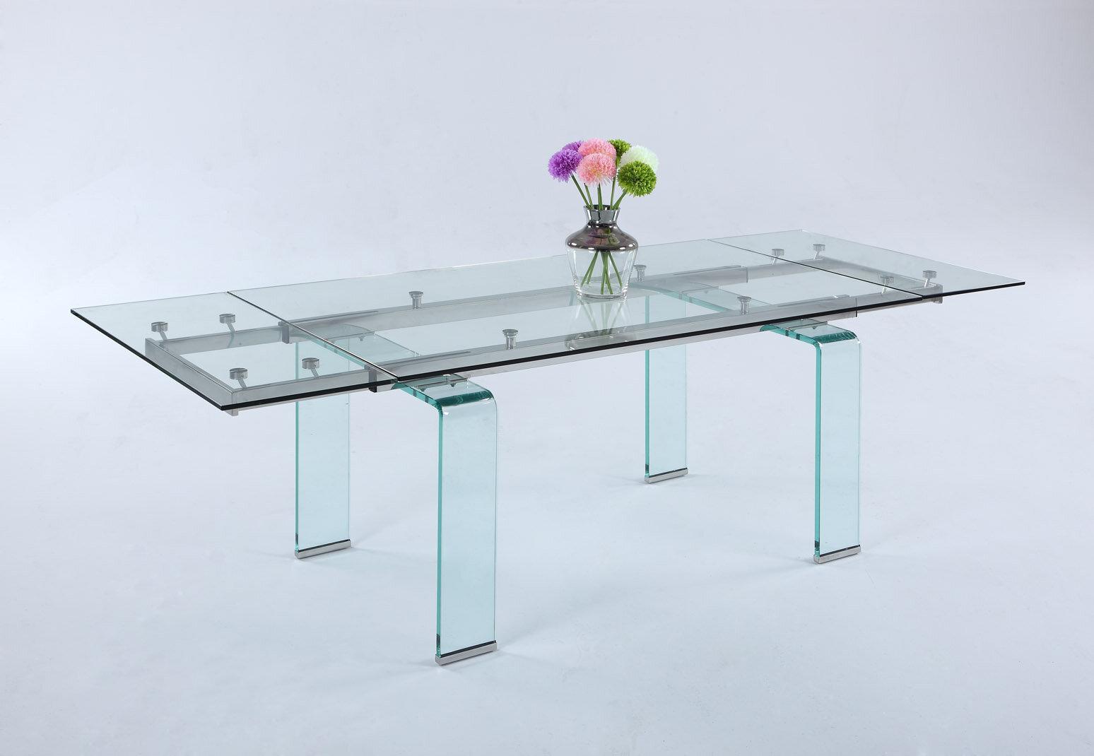 Picture of: Orren Ellis Krissie Extendable Dining Table Wayfair