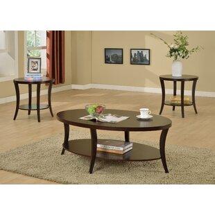 Hansmeier 3 Piece Coffee Table Set