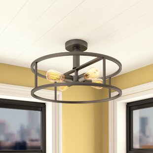 Sargeant 4-Light Semi Flush Mount by Brayden Studio