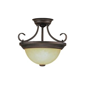 Warminster 2-Light Semi-Flush Mount by Fleur De Lis Living