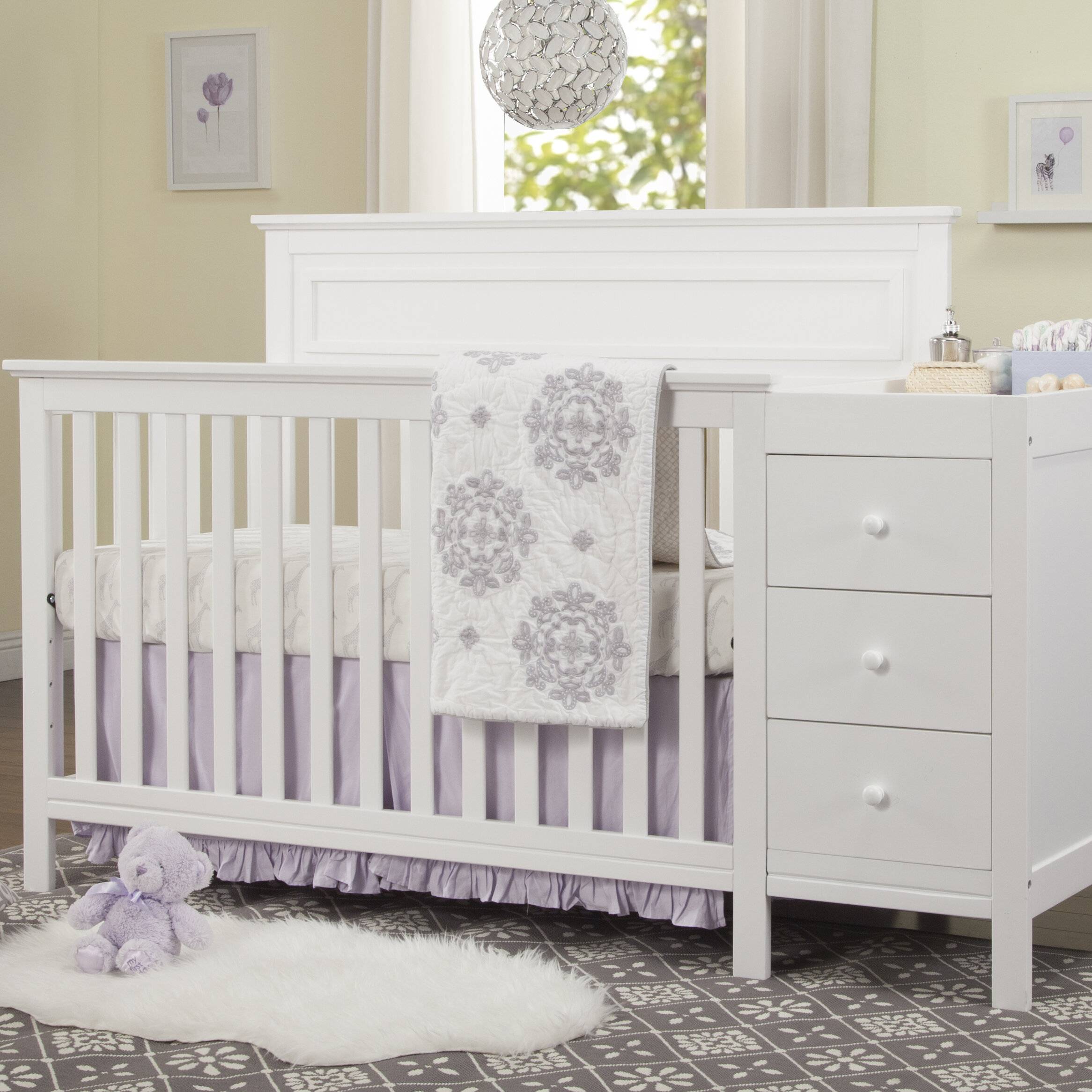 cribs xx changing in crib fog with convertible upholstered panel products table emerson nest