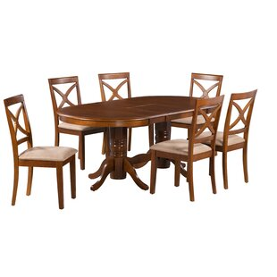 Kylie 7 Piece Extendable Solid Wood Dining Set