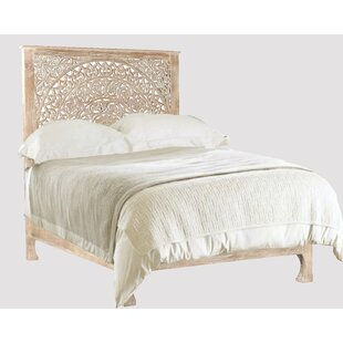 Alia Carved Queen Panel Bed