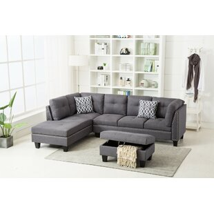 Redington Sectional with Ottoman by Winston Porter