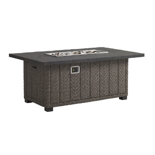 Tommy Bahama Outdoor Blue Olive Aluminum Propane Fire Pit Table