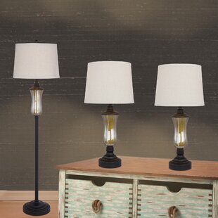 Frieda 3 Piece Table and Floor Lamp Set