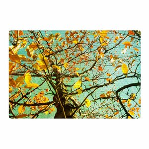Sylvia Coomes Autumn Tree Teal/Yellow Area Rug