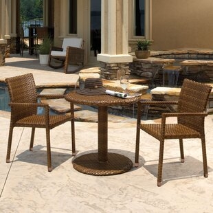 Panama Jack Outdoor St Barths 3 Piece Bistro Dining Set