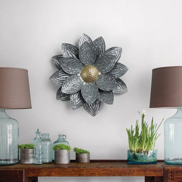 Mizell Floral Metal Wall Decor - pretty metallic floral wall art decorations