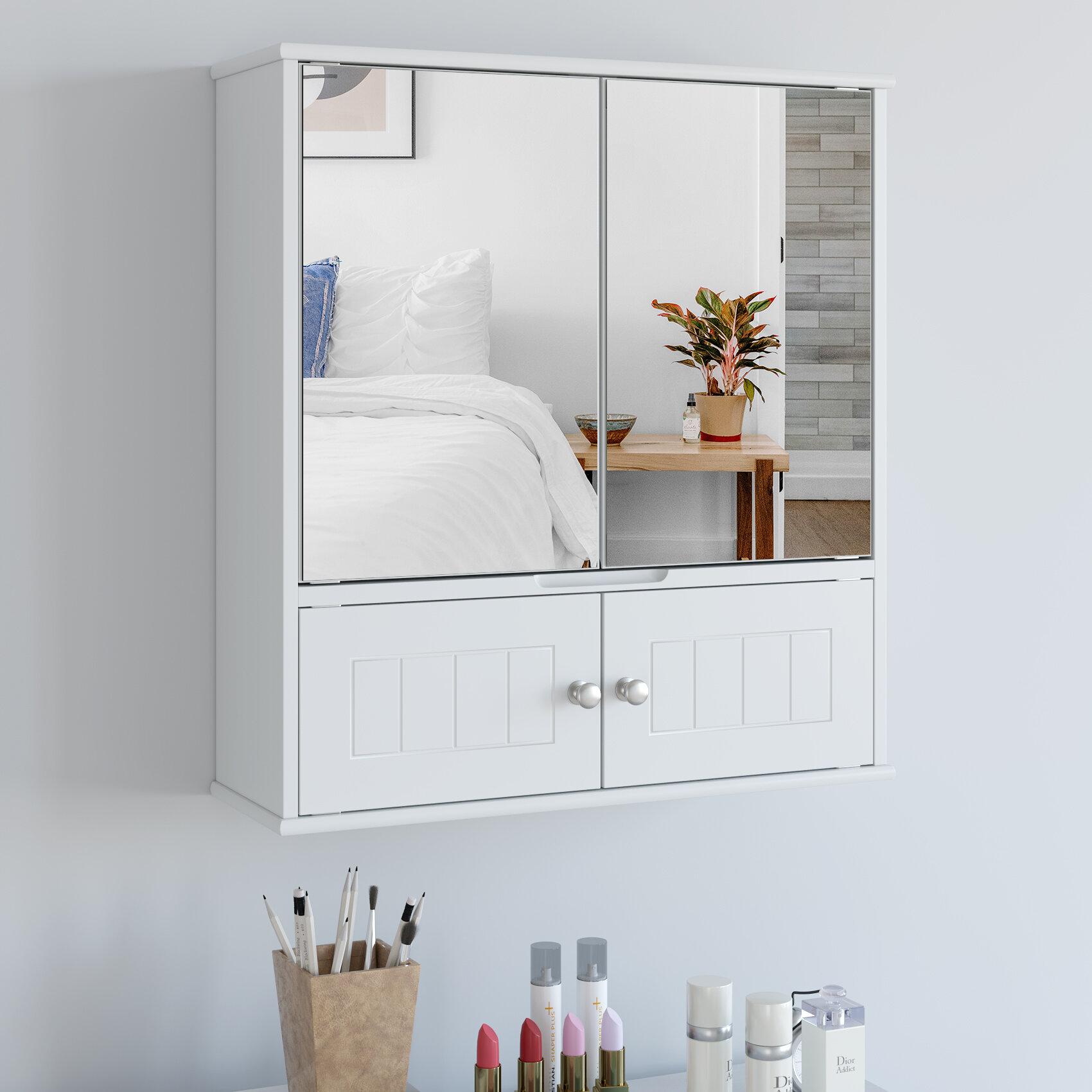 Red Barrel Studio Barzan Surface Mount Framed 2 Door Medicine Cabinet With 3 Adjustable Shelves Reviews Wayfair