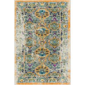 binstead traditional vintage distressed power loom orange area rug