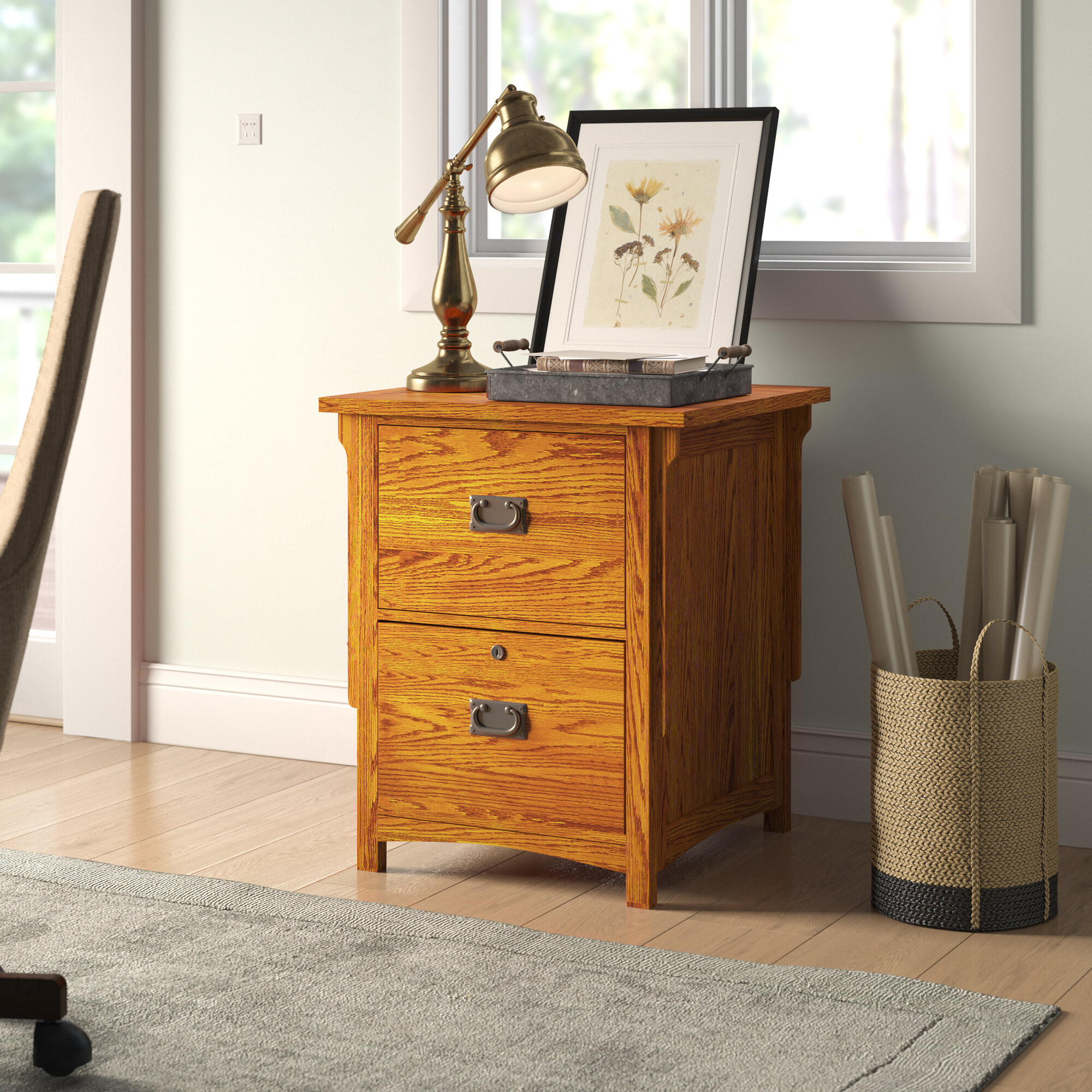 Picture of: Loon Peak Fort Kent 2 Drawer Vertical Filing Cabinet