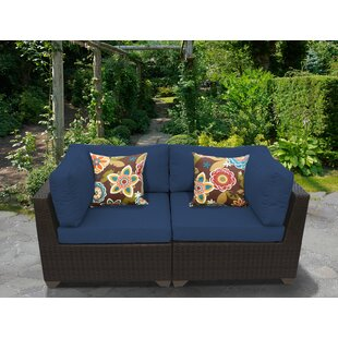 Meier Patio Loveseat With Cushions by Rosecliff Heights New