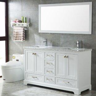 Crewkerne 60 Double Sinks Modern Bathroom Vanity Set by Highland Dunes