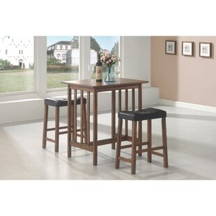 Keeter 3 Piece Counter Height Breakfast Nook Dining Set
