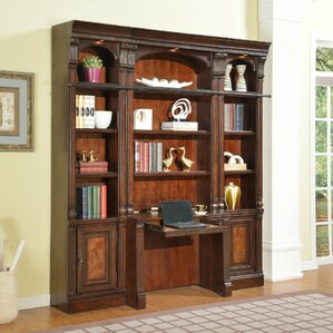blackmoor library desk and bookcase wall