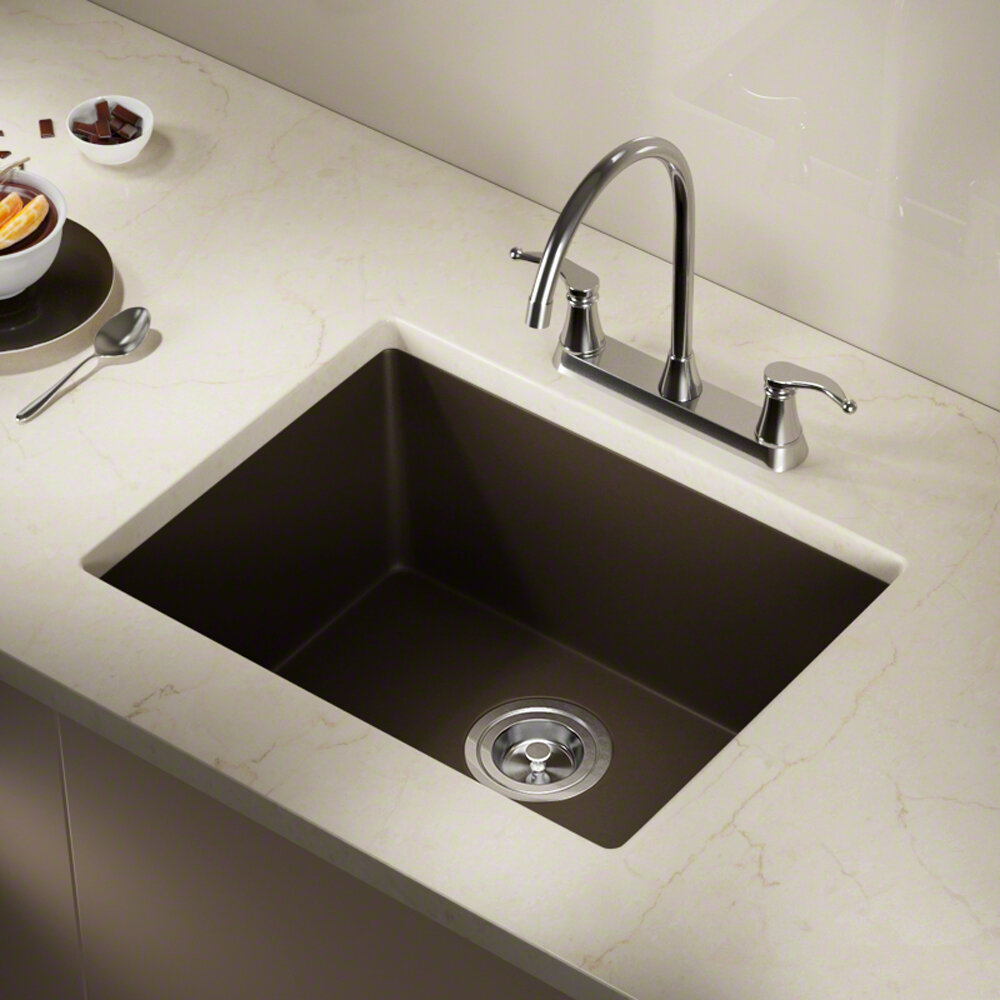 Mrdirect granite composite 22 l x 17 w undermount kitchen sink reviews wayfair ca