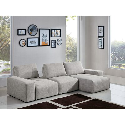 Jazz 3-Seater Reversible Chaise Sectional Diamond Sofa