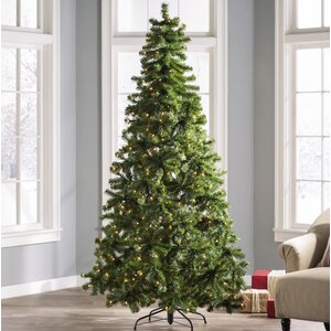 7.5' Green Fir Artificial Christmas Tree with 450 Clear Lights
