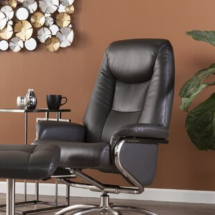 Mitchell Manual Swivel Recliner with Ottoman