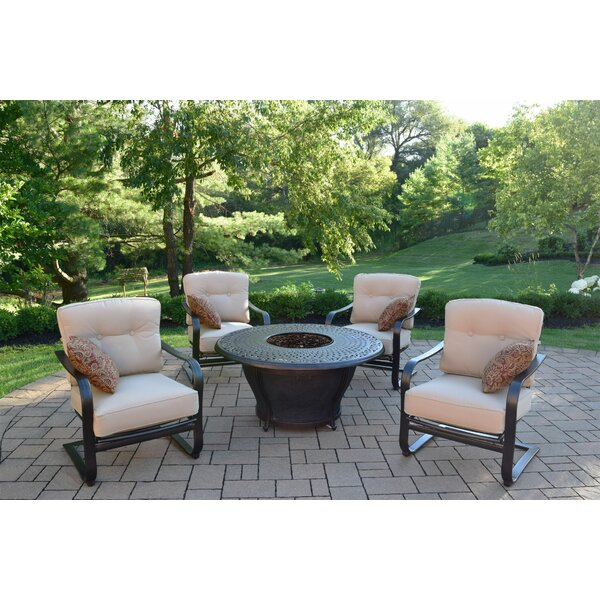 Darby Home Co Owego 8 Piece Rust Resistant Aluminum Conversation Set With  Cushions | Wayfair