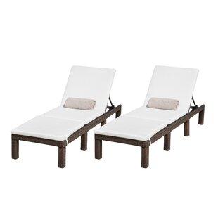 Emelda Reclining Chaise Lounge With Cushion (Set Of 2)