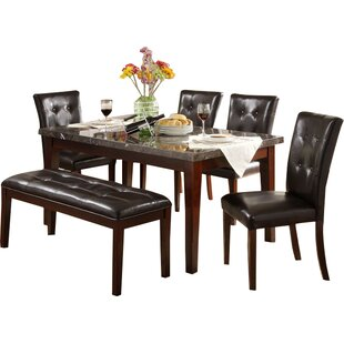 Compare prices Blackwater Dining Table By Red Barrel Studio