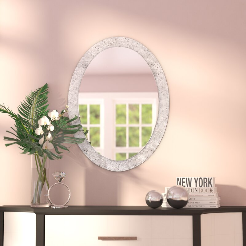 Willa Arlo Interiors Sajish Oval Crystal Wall Mirror Reviews Wayfair