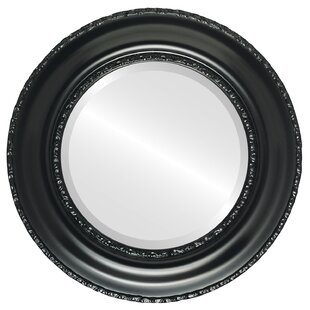 House of Hampton Wine Framed Round Accent Mirror