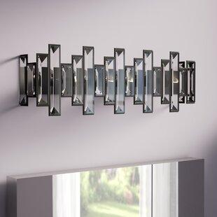 Mettler Crystal Heights 4-Light Bath Bar By Brayden Studio Wall Lights