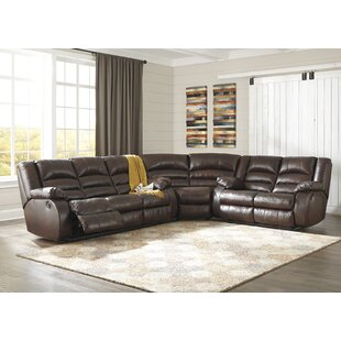 Look for Lunceford Leather Reclining Sectional by Alcott Hill Reviews (2019) & Buyer's Guide