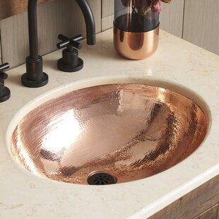 Native Trails, Inc. Classic Metal Oval Undermount Bathroom Sink