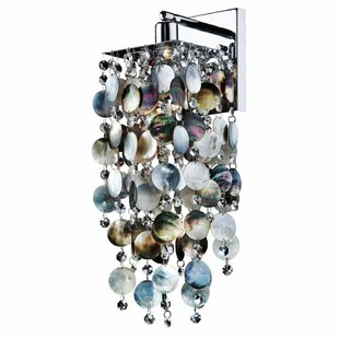 Cohen-Arazi Mother of Pearl 1-Light Armed Sconce by Everly Quinn