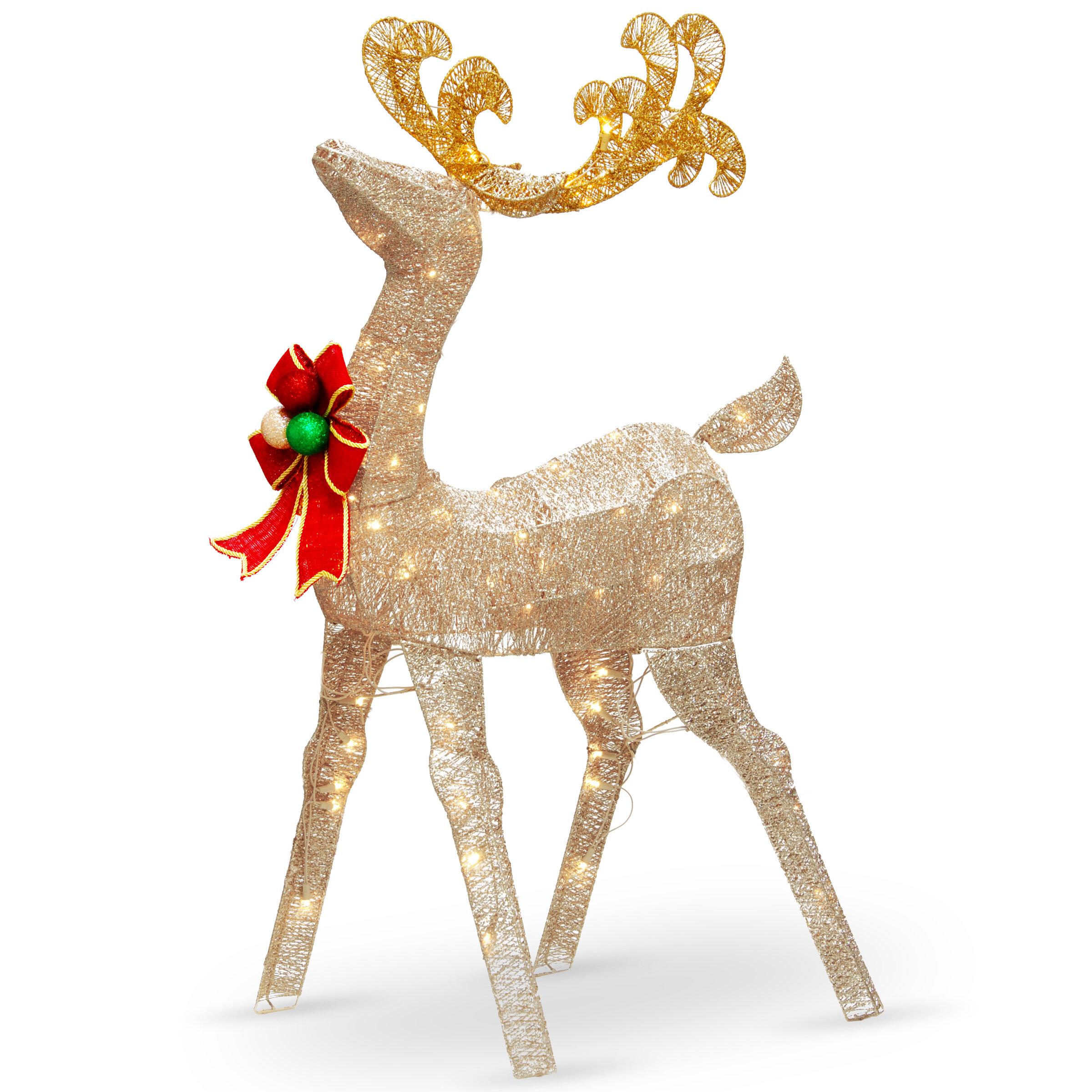 """Christmas Reindeer Prelit Window Holiday Decoration Lighted Indoor Outdoor 17/"""""""
