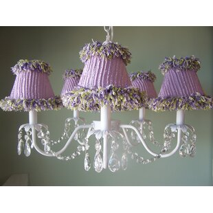 Sugar Plum 5-Light Shaded Chandelier by Silly Bear Lighting