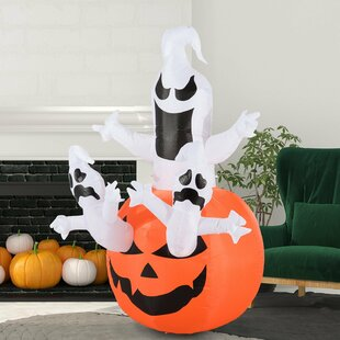 Adriano Halloween Ghosts Pumpkin 5 LED Light Inflatable By The Seasonal Aisle