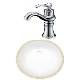 Online Reviews CSA Ceramic Oval Undermount Bathroom Sink with Faucet and Overflow ByAmerican Imaginations