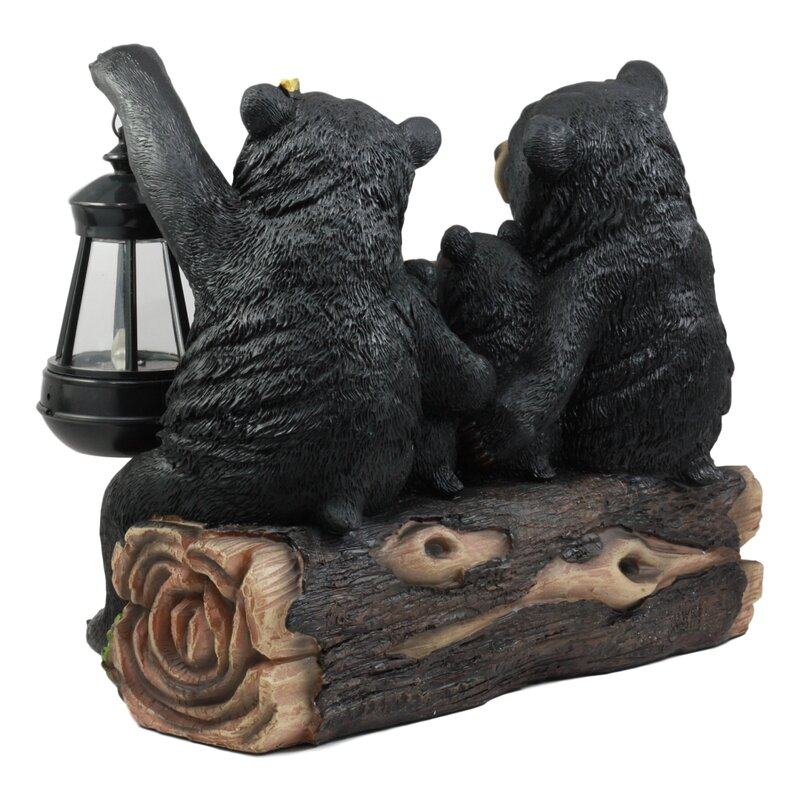 Haunted Forest Guardian Night Owl Welcome Sign Statue With Solar Powered Lantern