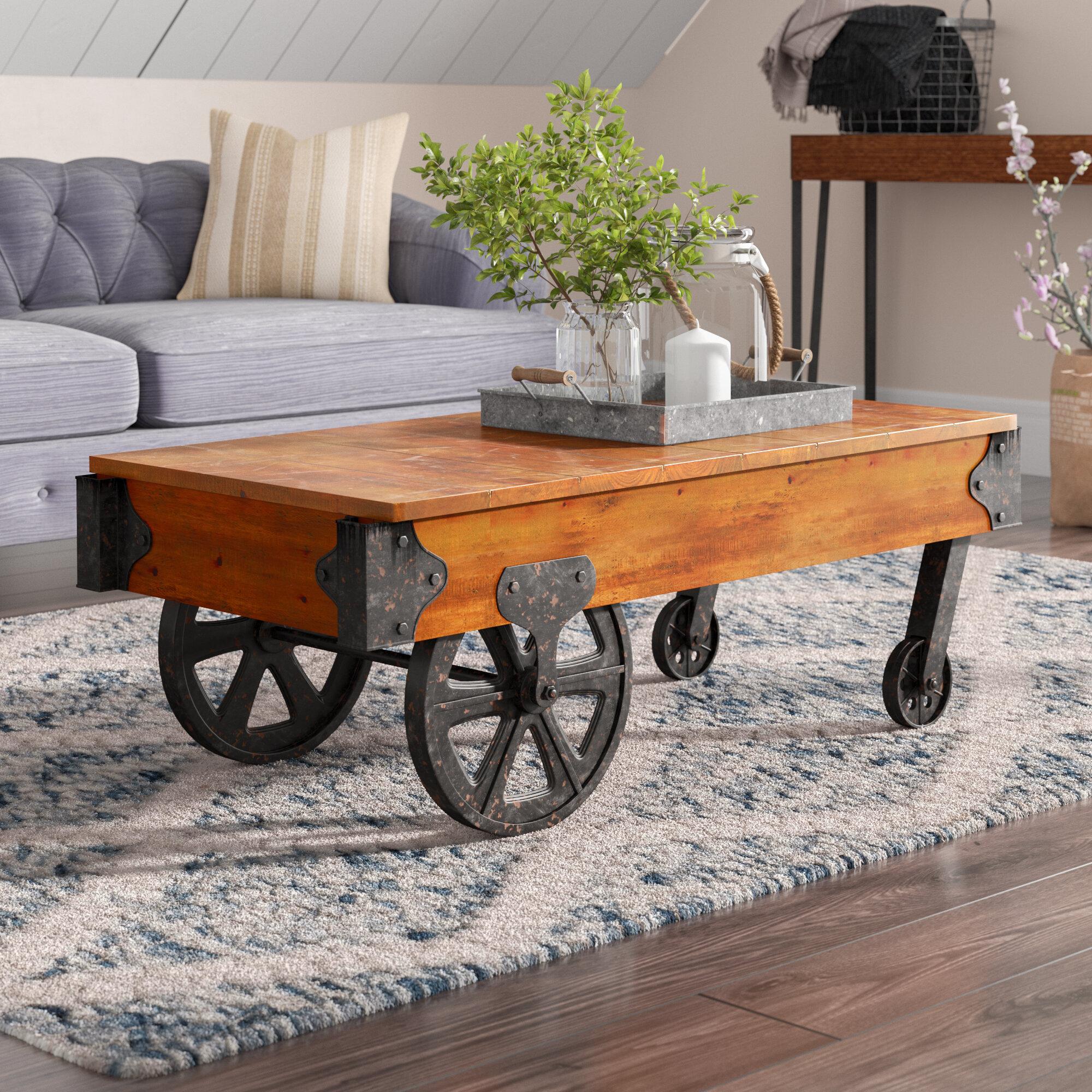 Restoration Hardware Dutch Industrial Coffee Table.Rail Cart Coffee Table Wayfair